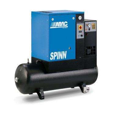 Abac Spinn E 4kw 16cfm @ 10 Bar 415 Volt Tank-Dryer Mounted 200L C40 Compressor
