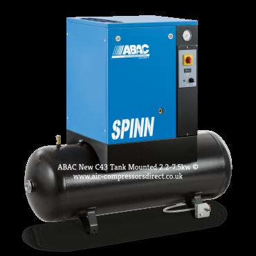 Abac Spinn 5.5kw 27.5 cfm @ 10 Bar 270L Tank Mounted 415 Volt C43 Compressor
