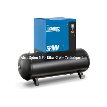 Abac Spinn X 7.5kw 35cfm @ 10 Bar 500L Tank Mounted C55* Compressor