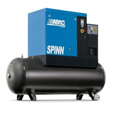 Abac Spinn XE 5.5kw 30cfm @ 8 Bar 500L Tank-Dryer Mounted C55* Compressor