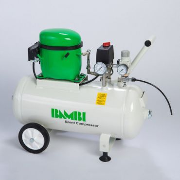 Bambi BB24 Silent Air Compressor with wheels