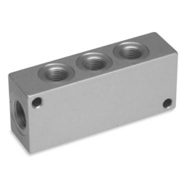 """Manifold 3/8""""BSP Inlets 3 x 1/4""""BSP Outlets"""