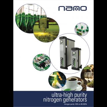 Nano Gen i4.0 Nitrogen Generator 95 - 99.9% Nitrogen Purity 0.9 - 200.3 Nm3/h