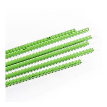 1 x 5.7mtr 40mm Green Aluminimum AIRnet Pipe for Inert Gases