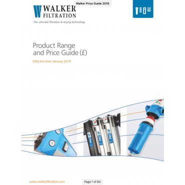 Walker Filtration Price & Products Download 2020