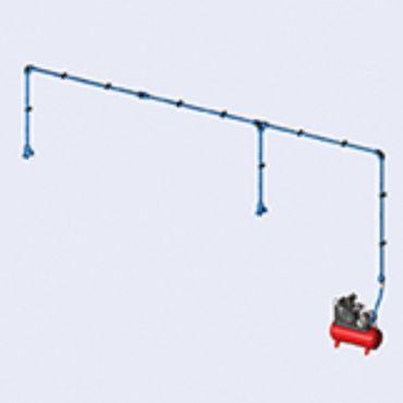 DIY Airnet Air System 2 Bay Kit 25mm Dia 11.4mtrs