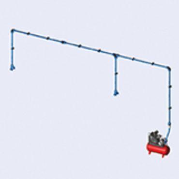 DIY Prevost Air System 2 Bay Kit 25mm Dia 16mtrs