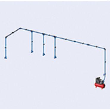 DIY Airnet Air System 4 Bay Kit 25mm Dia 22.8mtrs
