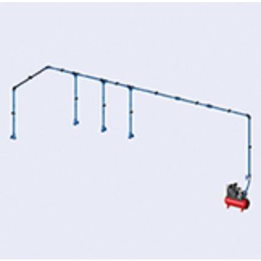 DIY Airnet Air System 4 Bay Kit 25mm Dia 28.5mtrs