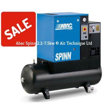 Abac Spinn E 5.5kw 21cfm @ 10 Bar 415 Volt Tank-Dryer Mounted 200L C40 Compressor