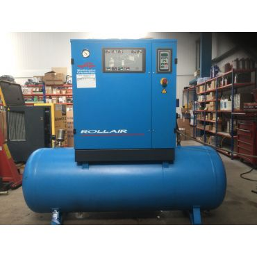 Reconditioned Mark/ Rollair 11kw 8 Bar 500lt Tank+Dryer 415 Volt