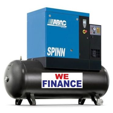 Abac Spinn XE 7.5kw 10 Bar Tank-Dryer Mounted 270L C55* Finance Example