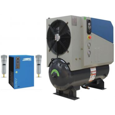 SCR 20PM2 + Dryer 10 bar 74 cfm Permanent Magnet variable Speed 15kw Rotary screw Air Compressor