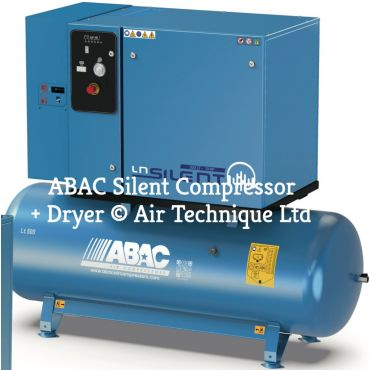 20 cfm ABAC LN2 B5900 500 T5,5 + Dryer (Slow Rev Pump)*3 Phase 415 Volt DOL Special Order
