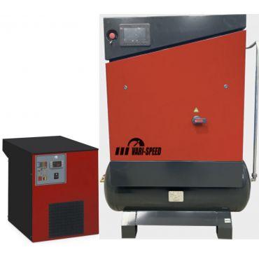 Airwave Vari-Speed Permanent Magnet 5.5kw 25 cfm @ 10 Bar 300L Tank Mounted + Dryer + Free Options