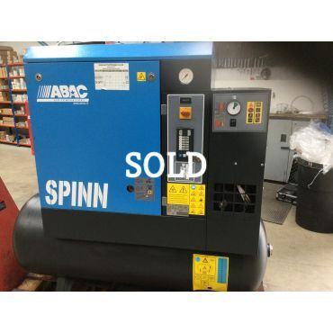 Reconditioned Abac Spinn E 5.5kw 10 Bar 270lt Tank+Dryer 415 Volt