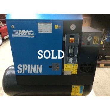Reconditioned Abac Spinn E 11kw 10 Bar 270L Tank+Dryer 415 Volt