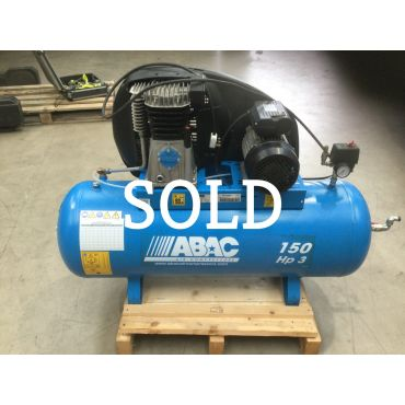 Reconditioned 14 cfm Abac PRO A39B 150L FM3 * Single phase run off a 16 Amp supply