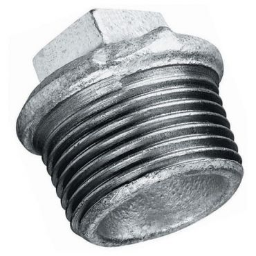 "1-1/4"" bsp Male Plug Tapered Thread Malleable Iron Galvanised"