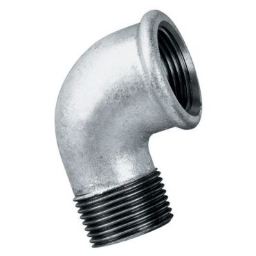 """2"""" bsp Equal Elbow Male to Female Thread Malleable Iron Galvanised"""