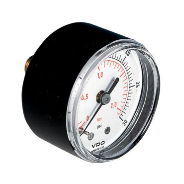 G1/8 Pressure Gauge 50mm Dia. 0-12bar/psi Rear Entry