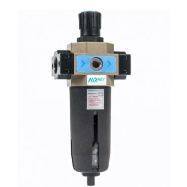 AIRnet 1/2 bsp Filter-Regulator c/w Gauge Manual Drain