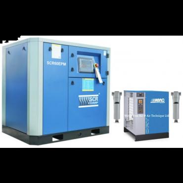 SCR 60EPM + Dryer Variable Speed 332 cfm @ 7 bar 45kw Floor Mounted