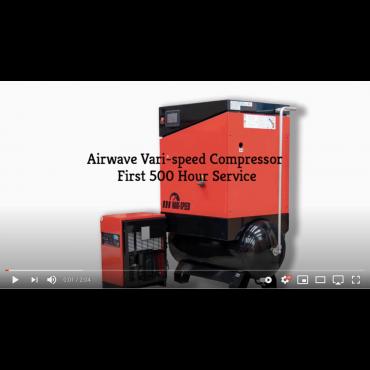 Airwave VARI-Speed Rotary Screw Air Compressor First 500 Hour Service