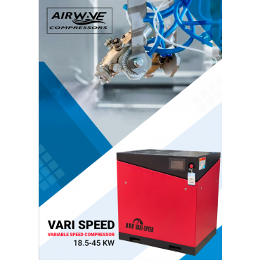 Airwave Vari-Speed Permanent Magnet 22kw 124 cfm @ 7 Bar + Free Options
