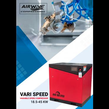 Airwave Vari-Speed Permanent Magnet 30kw 174 cfm @ 7 Bar + Free Options
