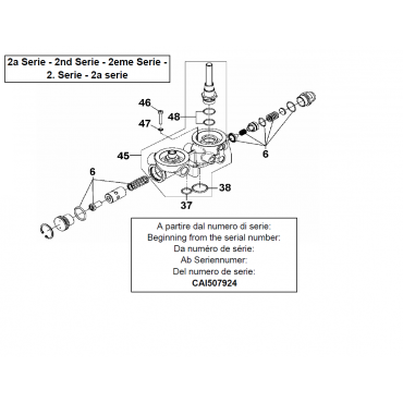 C40 2.2-5.5kw Oil Separator Stem Kit Series 2