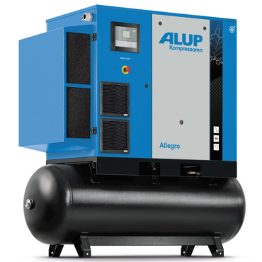 Alup Allegro 15 Variable Speed 105 cfm @ 7 bar 15kw Tank Mounted + Dryer
