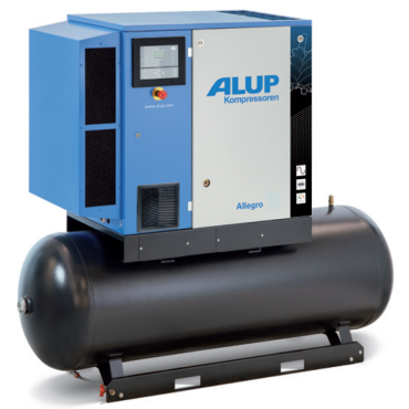 Alup Allegro 14 Variable Speed 81.3 cfm @ 7 bar 15kw Tank Mounted