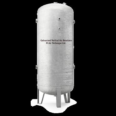 "1500 ltr vertical galvanized air receiver 2"" bsp Port Outlets"