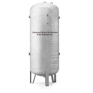 "4000 ltr vertical galvanized air receiver 3"" bsp Port Outlets"